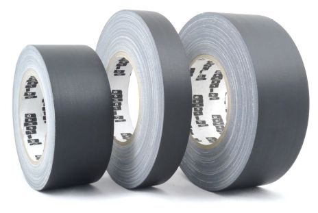 Matt black fabric gaffer tape